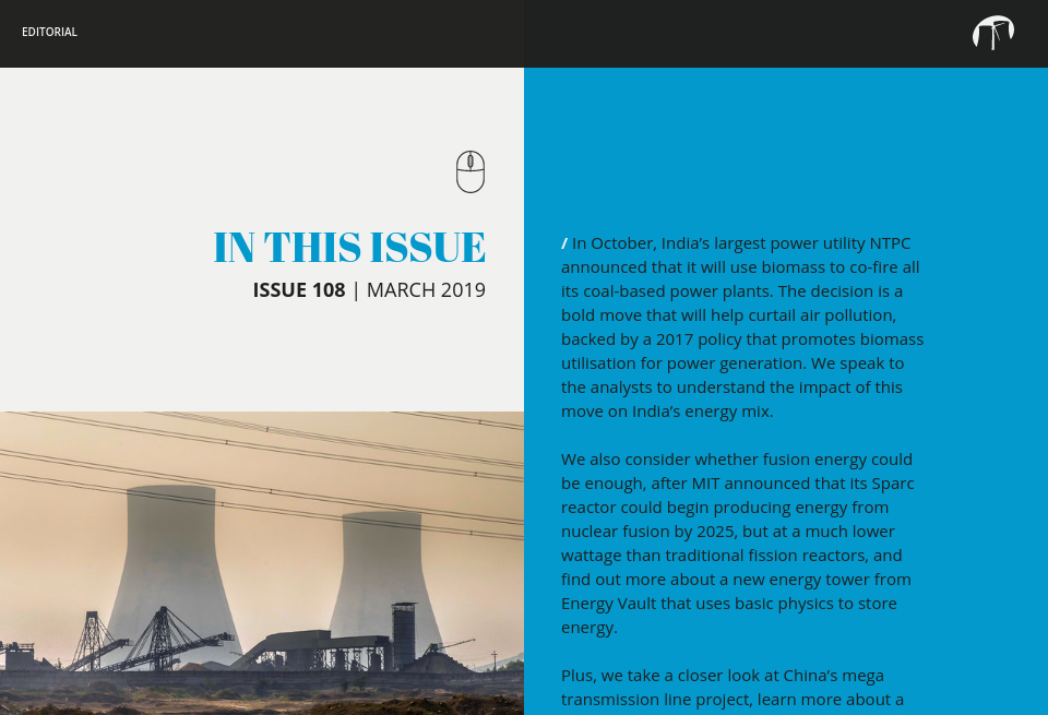 In this issue - Future Power Technology Magazine   Issue 108